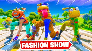 *FOOD* Fortnite Fashion Show! FÏRE Skin Competition! Best COMBO WINS!