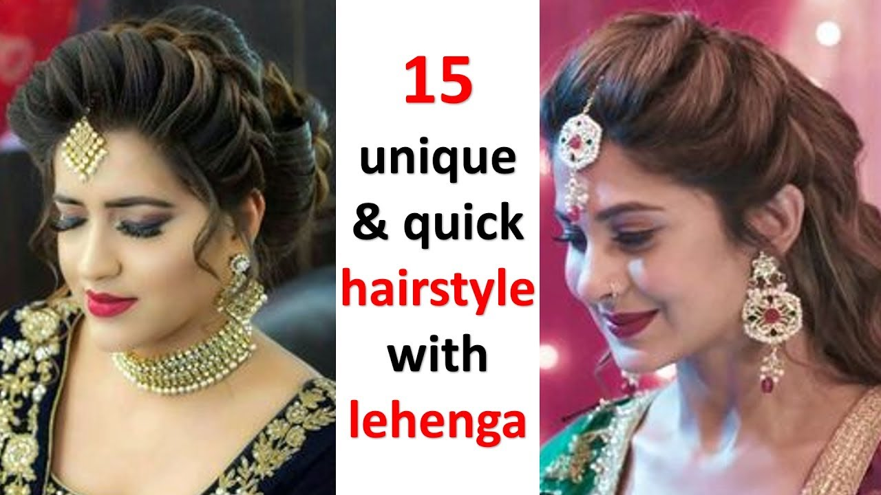 10 easy hairstyles with lehenga  hair style girl  updo hairstyles   prom hairstyles  hairstyle