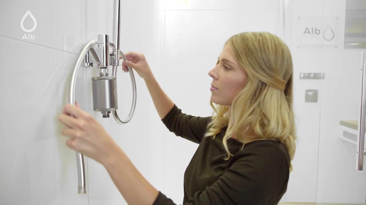 Alb Filter Wechsel Der Filterkartusche Bei Einsatz In Dusche Und Bad Youtube