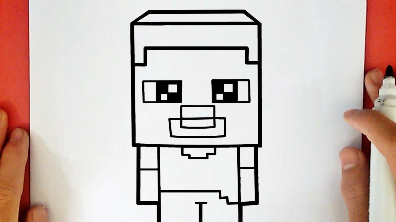 Como Dibujar A Steve De Minecraft Kawaii