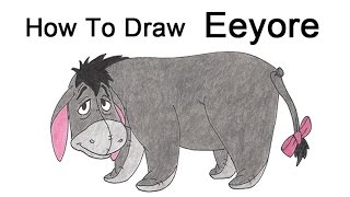 How to Draw Eeyore from Winnie the Pooh