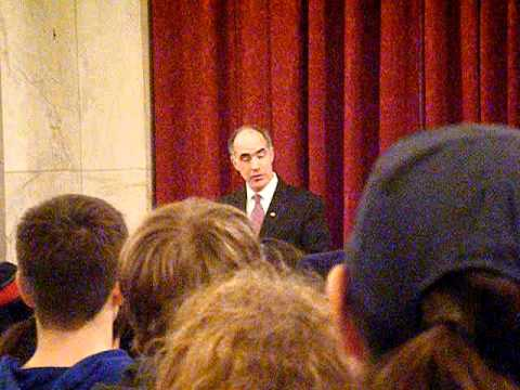 March for Life 2012 - Washington DC - Senator Bob Casey Jr Introduction