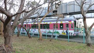 湘南モノレール・OJICOトレイン目白山下駅到着・発車(Shonan monorail)