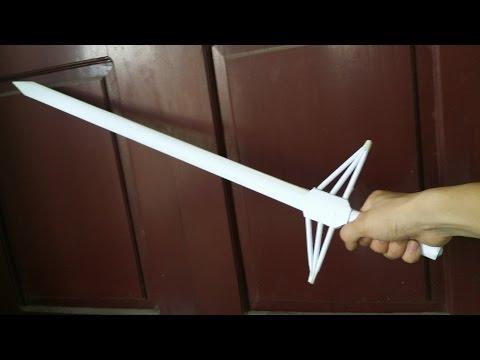 Cara membuat pedang 60cm  | pedang kertas