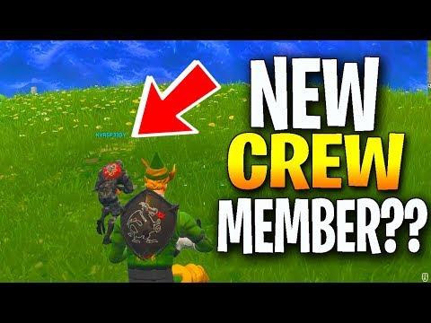 NEW CREW MEMBER?! - FORTNITE FUNNY MOMENTS (Fortnite Battle Royale)