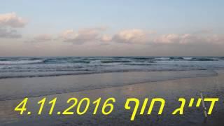 דייג חוף 4.11.2016. Рыбалка море