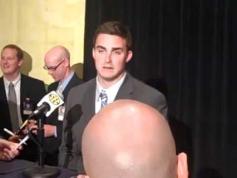UF quarterback John Brantley talks at SEC Media Days