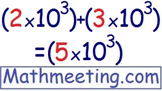 Scientific Notation - Adding and Subtracting