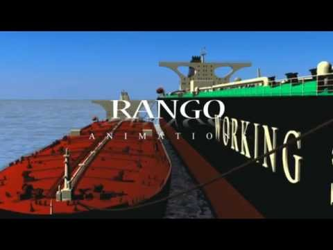 Oil Tanker - Ship cleaning operation