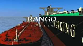 Oil Tanker - Ship cleaning operation vessel video