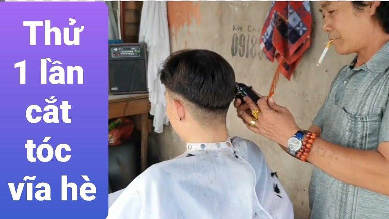 Thử trải nghiệm cắt tóc vỉa hè