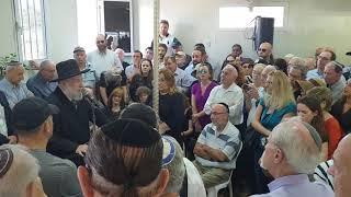 הלווית מרדכי סובול / שיויתי האנסמבל עם רפי ביטון והספד הרב ישראל לאו בדמעות