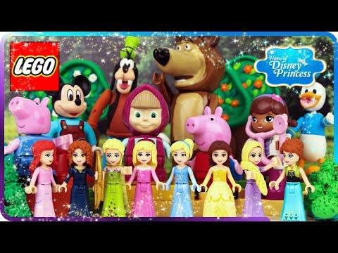 ♥ LEGO TOP 10 Home of Disney Princess Cartoons (Masha and the Bear, Frozen, Mickey, Donald Duck...)