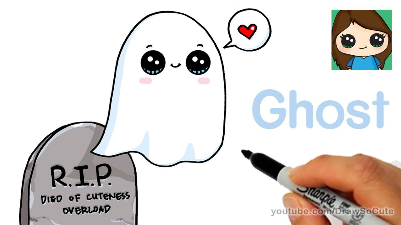 How to Draw a Ghost Super Easy - YouTube
