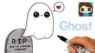How to Draw a Ghost Super Easy