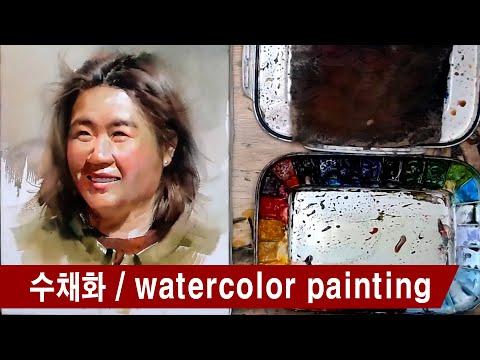 수채화과정 / Watercolor painting