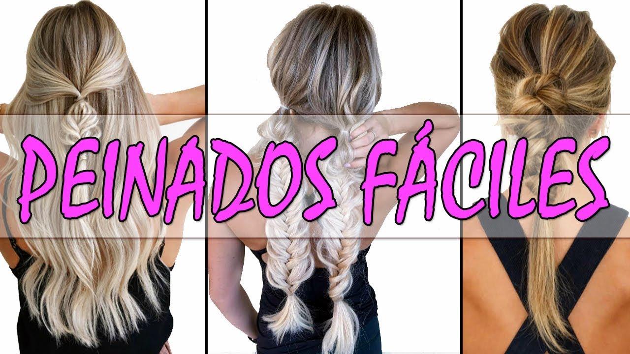 Peinados Faciles Para Cabello Largo 2018 2019 Peinados Para