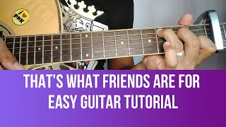Download Lagu HOW TO PLAY THAT'S WHAT FRIENDS ARE FOR  BY DIONNE WARWICK EASY GUITAR TUTORIAL BY PARENG MIKE mp3