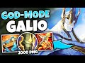 JUSTICE PUNCH DELETES CARRIES! FULL AP GALIO MID IS HILARIOUS - League of Legends