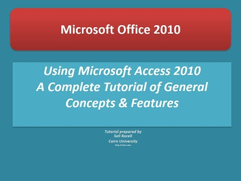 Access 2010 Tutorial: A Comprehensive Guide to Access - Access Made Easy