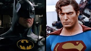 Batman v superman trailer (michael keaton v christopher reeve)