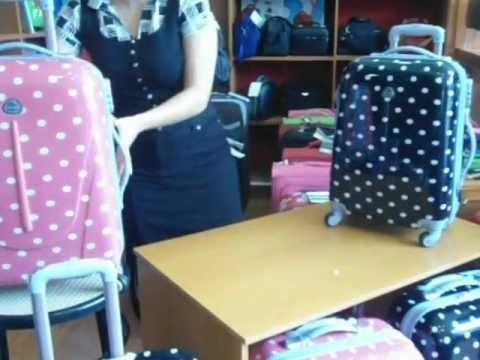 Μοντέρνα πουά τετράτροχη βαλίτσα NewLine