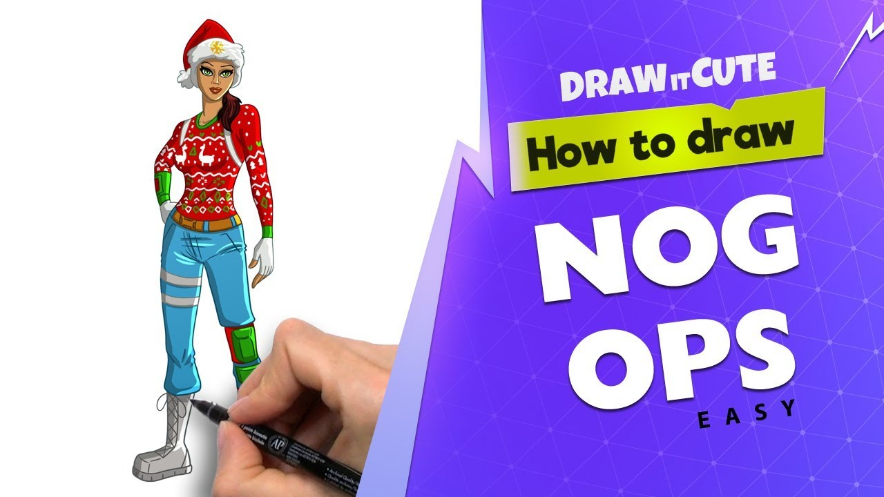 How To Draw Nog Ops Easy Fortnite Season 7 Drawing
