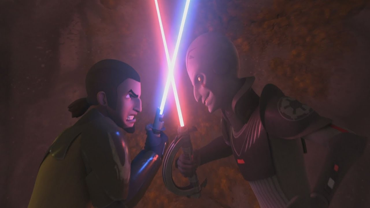 Image result for kanan jarrus vs inquisitor