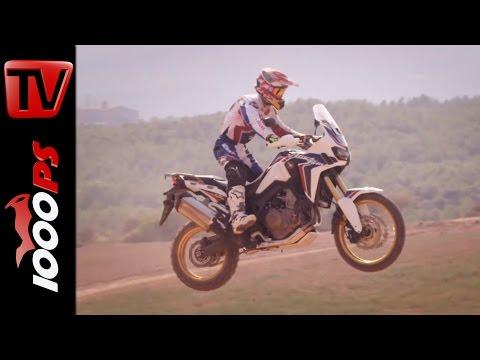 Marquez und Barreda testen die Honda Africa Twin 2016