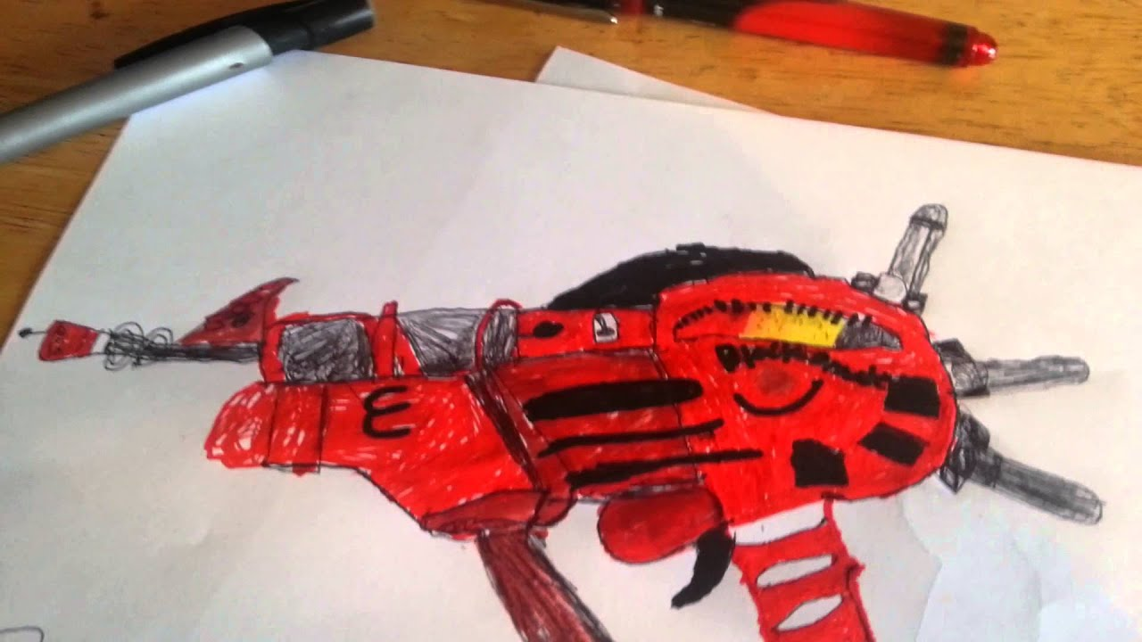 black ops ray gun coloring pages - ray gun drawing images galleries with