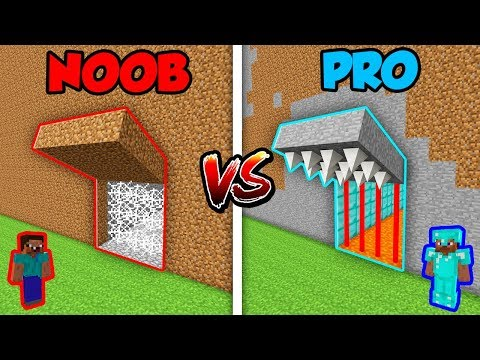 Minecraft NOOB vs. PRO: SECRET TRAP DEFENSE in Minecraft! (Animation) thumbnail