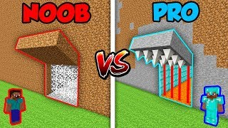 Minecraft NOOB vs. PRO: SECRET TRAP DEFENSE in Minecraft! (Animation) Video