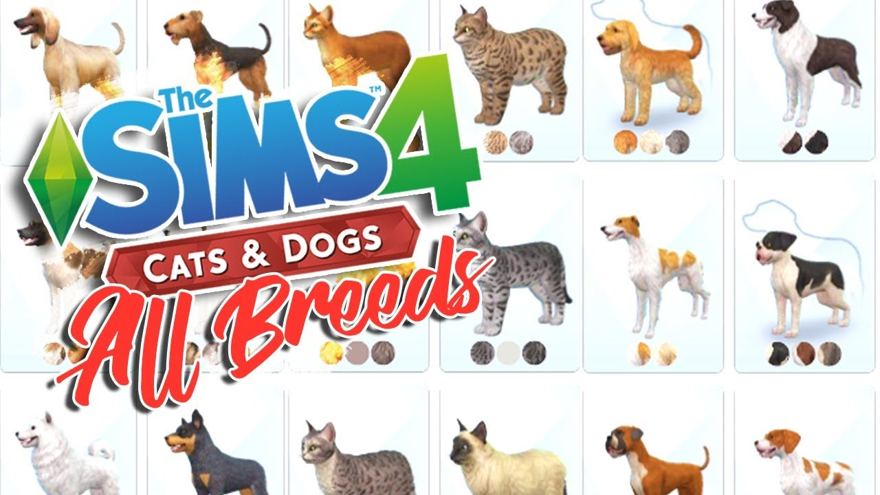 The Sims 4 Cats Dogs All Breeds Overview Youtube