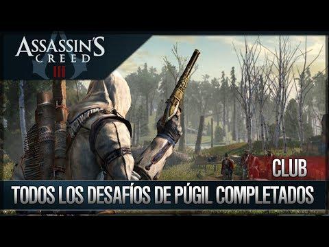 Assassin's Creed 3 - Walkthrough Español - Club - Todos los desafíos de Púgil Completados [100%]