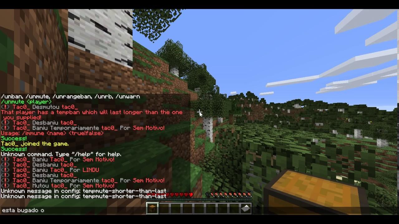 Plugin MaxBans Configurado YouTube - Minecraft bukkit spieler entbannen