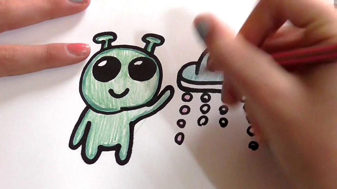 Como Dibujar Un Marciano Kawaii