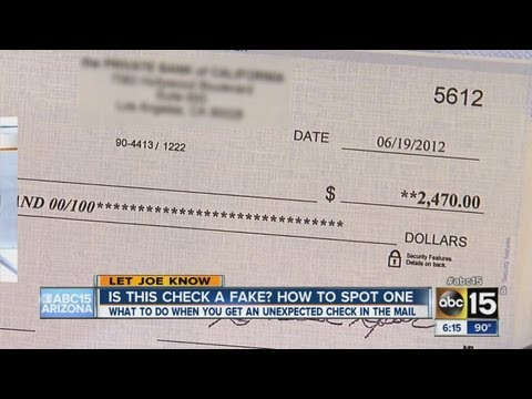 Got a check in the mail? How to make sure it's the real deal