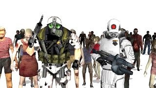 Zombies | No More Room in Hell | vs Grunts and Elite Soldiers