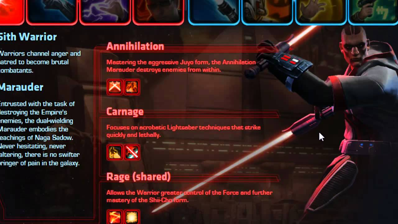 SWTOR/ Sith Warrior Marauder Advanced Spec. Review - YouTube