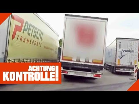 LKW komplett schief & katastrophale Reifen! Weiterfahrt verboten!   Achtung Kontrolle   Kabel Eins