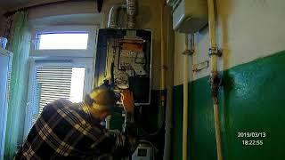 замена воздухоотводчика и трёхходового на котле Rinnai 167 RMF