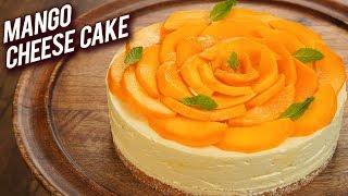 Eggless Mango Cake Recipe - Easy Mango Cheesecake Recipe - Summer Special Dessert - Bhumika