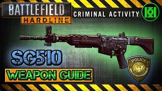 battlefield hardline sg510 review gameplay best gun setup   weapon guide bfh sg 510
