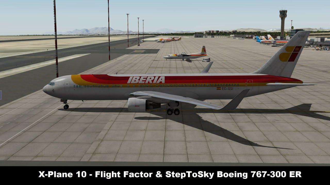[X-Plane 10] Flight Factor Boeing 767-300 ER | First Impressions