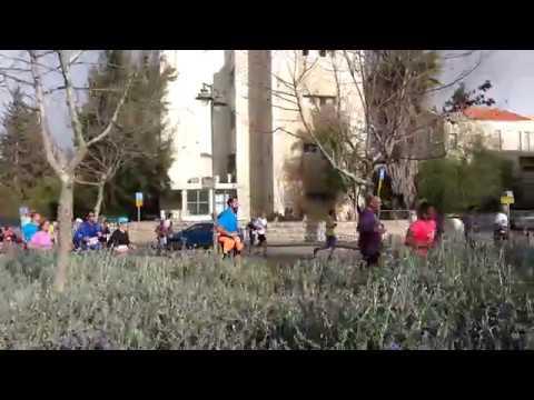 Jerusalem Marathon 2018 near Emek Refa'im Street