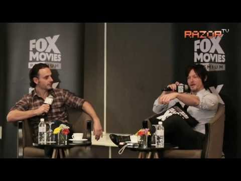 The Walking Dead stars shoot zombies in Singapore