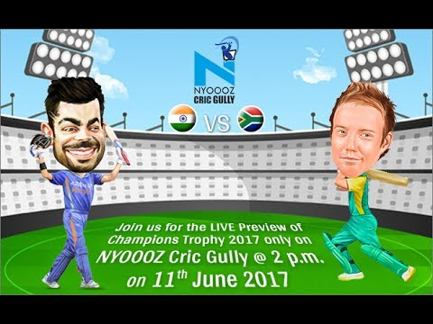 Champions Trophy 2017 Live India vs South Africa match preview only on Cric Gully