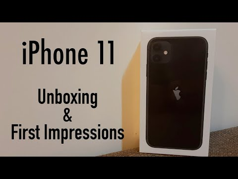 iPhone 11 Unboxing & First Impressions (Black)