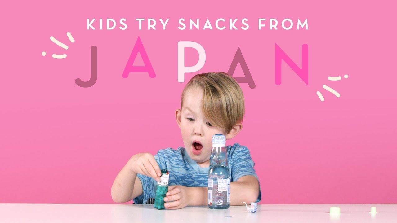 Kids Try Snacks From Japan Kids Try Hiho Kids Youtube