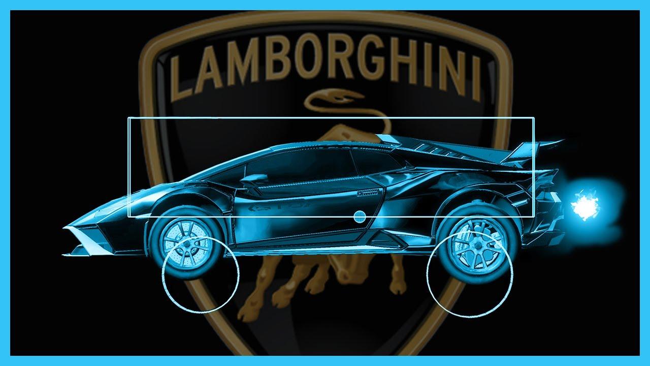 Lamborghini Huracán STO Hitbox Visualization | Rocket League [1.95]